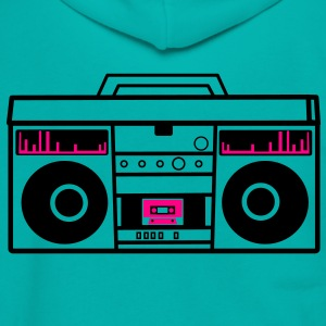 1980 BOOM BOX simple with speakers for a DJ Women's T-Shirts - Unisex Fleece Zip Hoodie by American Apparel