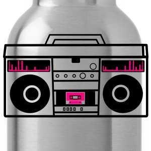 1980 BOOM BOX simple with speakers for a DJ Women's T-Shirts - Water Bottle