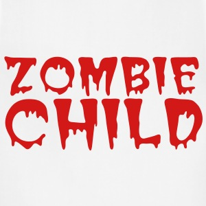 zombie child with bloody font red Polo Shirts - Adjustable Apron