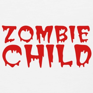 zombie child with bloody font red Polo Shirts - Men's Premium Tank
