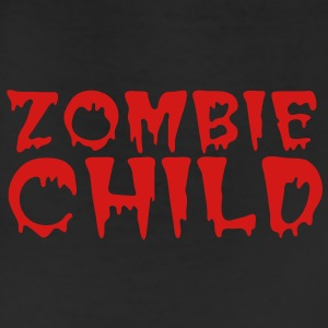 zombie child with bloody font red Polo Shirts - Leggings