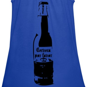 Cerveza por favor Women's T-Shirts - Women's Flowy Tank Top by Bella