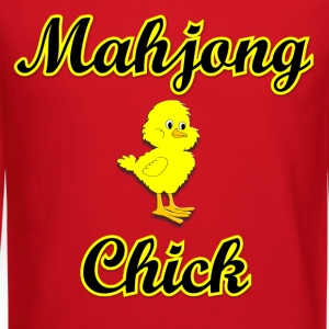 Mahjong Chick Women's T-Shirts - Crewneck Sweatshirt