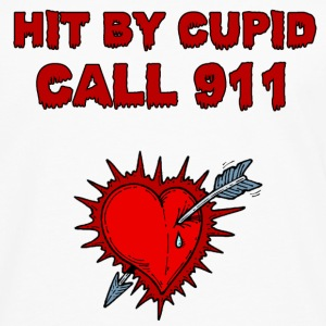 hit by cupid call 911 - Men's Premium Long Sleeve T-Shirt