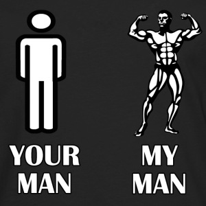 your man my man - Men's Premium Long Sleeve T-Shirt