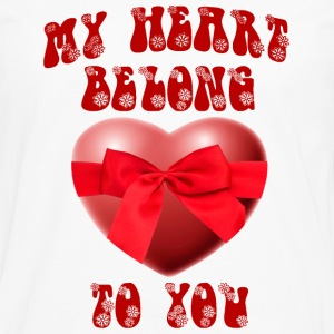 my heart belong to you - Men's Premium Long Sleeve T-Shirt
