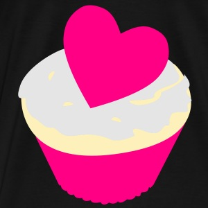 heart cupcake Bags  - Men's Premium T-Shirt