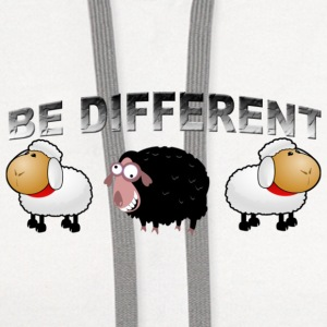 be different - Contrast Hoodie