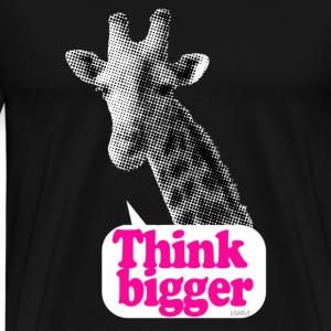giraffe think bigger saying Hoodies - Men's Premium T-Shirt