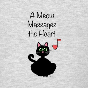 A Meow Massages the Heart - Men's T-Shirt