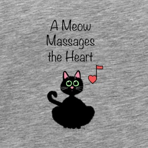 A Meow Massages the Heart - Men's Premium T-Shirt