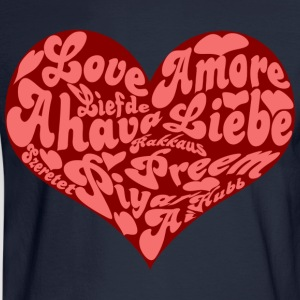 Love Heart - Men's Long Sleeve T-Shirt