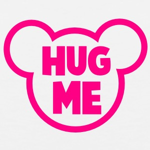HUG ME romance teddy bear outline shape Buttons - Men's Premium Tank