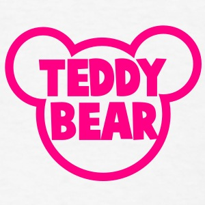 TEDDY BEAR in teddy shape Buttons - Men's T-Shirt