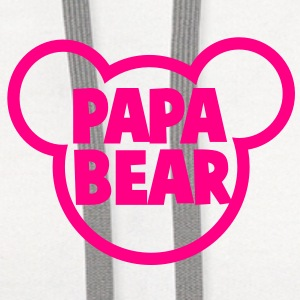 PAPA BEAR in a teddy shape super cute! Buttons - Contrast Hoodie