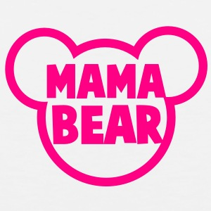 MAMA BEAR in a teddy shape super cute! Buttons - Men's Premium Tank
