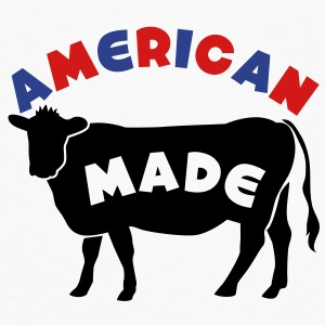 AMERICAN MADE beef cow Buttons - Men's Premium Long Sleeve T-Shirt