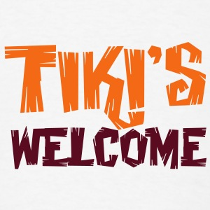 TIKI's WELCOME! Buttons - Men's T-Shirt