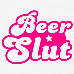 beer slut with a star Buttons - Men's T-Shirt