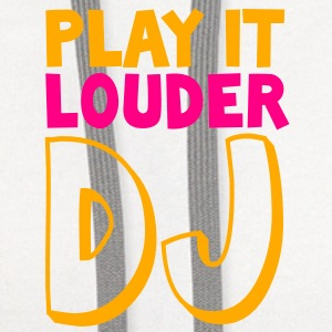 PLAY IT LOUDER DJ deejay Buttons - Contrast Hoodie