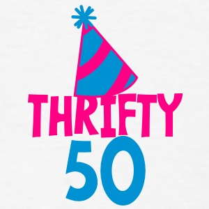 BIRTHDAY 50 thrifty FIFTY Buttons - Men's T-Shirt