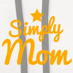 simply mom a star Buttons - Contrast Hoodie