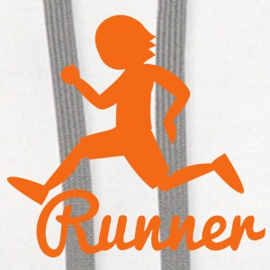 RUNNER shape person running Buttons - Contrast Hoodie