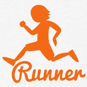 RUNNER shape person running Buttons - Men's T-Shirt