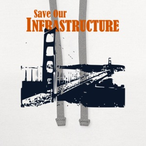 Save Our Infrastructure - Contrast Hoodie