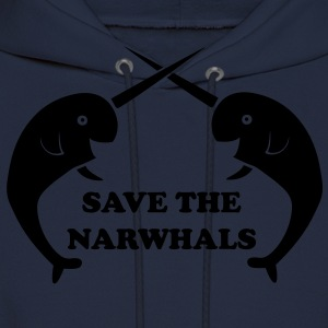 Save the Narwhals T-Shirts - Men's Hoodie