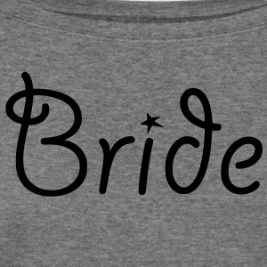 Bride - Text with Star - Women's Wideneck Sweatshirt
