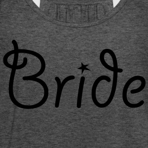 Bride - Text with Star - Women's Flowy Tank Top by Bella
