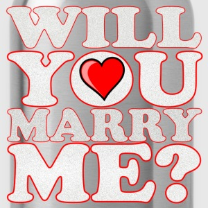 will you marry me - Water Bottle