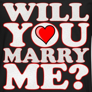 will you marry me - Men's Premium Long Sleeve T-Shirt