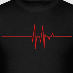 heart beat line Long Sleeve Shirts - Men's T-Shirt