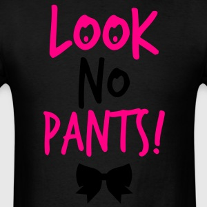 LOOK NO PANTS! with a black bow Long Sleeve Shirts - Men's T-Shirt