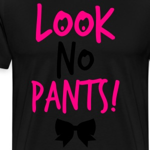 LOOK NO PANTS! with a black bow Long Sleeve Shirts - Men's Premium T-Shirt