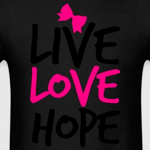 LIVE LOVE HOP with a  bow cute! Long Sleeve Shirts - Men's T-Shirt