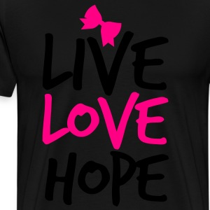 LIVE LOVE HOP with a  bow cute! Long Sleeve Shirts - Men's Premium T-Shirt