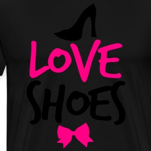 LOVE SHOES! with shoe bow and  Long Sleeve Shirts - Men's Premium T-Shirt