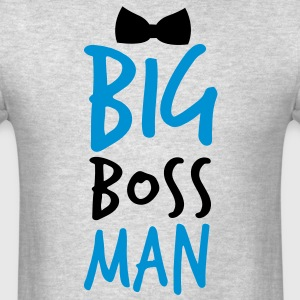 BIG BOSS MAN black Bow Tie event Long Sleeve Shirts - Men's T-Shirt