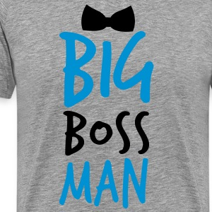 BIG BOSS MAN black Bow Tie event Long Sleeve Shirts - Men's Premium T-Shirt