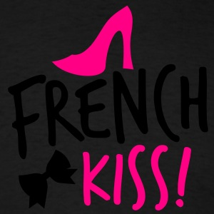 french kiss with a cute bow and a shoe Long Sleeve Shirts - Men's T-Shirt