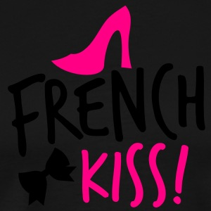 french kiss with a cute bow and a shoe Long Sleeve Shirts - Men's Premium T-Shirt
