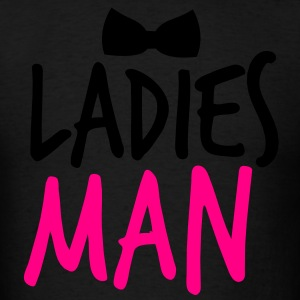 LADIES MAN with a black bow tie event Long Sleeve Shirts - Men's T-Shirt
