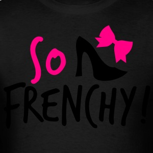 So Frenchy! with a shoe and a bow Long Sleeve Shirts - Men's T-Shirt