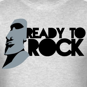 EASTER ISLAND STATUE READY TO ROCK Long Sleeve Shirts - Men's T-Shirt