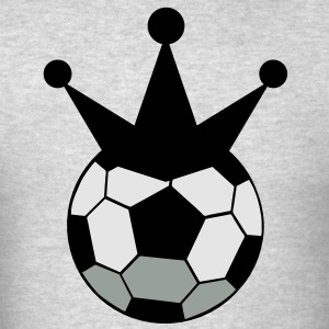 soccer ball sports king with crown Long Sleeve Shirts - Men's T-Shirt