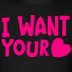 I want your HEART love Long Sleeve Shirts - Men's T-Shirt