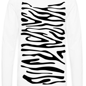 Zebra Print T-Shirt - Men's Premium Long Sleeve T-Shirt